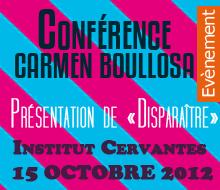 Présentation de Disparaître Institut Cervantes